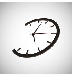clock time arrow second minute hour vector image