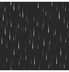 Heavy vertical rain dark seamless pattern nature vector image