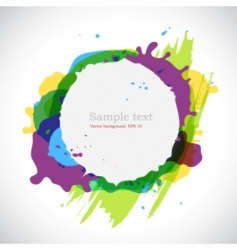 ink blots background vector image vector image