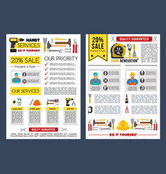 poster template for home repair service vector image vector image