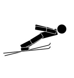 ski jumping flat icon vector image