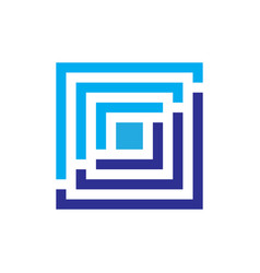 abstract square business finance logo vector image