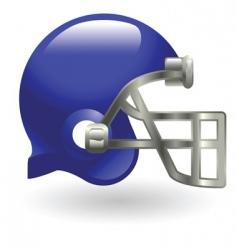 american football helmet vector image