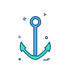 anchor icon design vector image