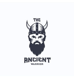Ancient Warrior Abstract Logo Template vector image