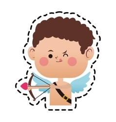 Baby cupid cartoon icon vector