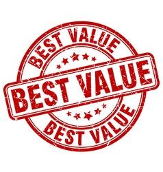 Best value red grunge round vintage rubber stamp vector