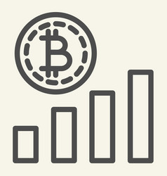 bitcoin chart line icon crypto graph vector image