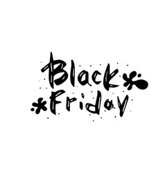 black friday text with decoration vector image