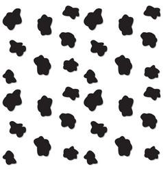 black spots seamless pattern vector image