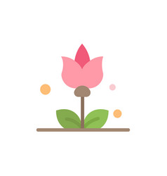 bouquet flowers present flat color icon icon vector image
