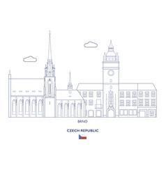 Brno city skyline vector