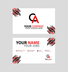 ca logo letter with box decoration on edge vector image
