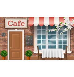 Cafe facade vector