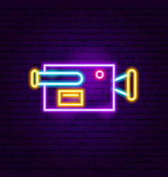 camera neon sign vector image