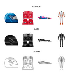 Car and rally symbol set vector