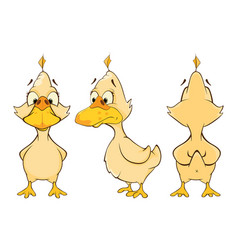 Cartoon character cute duck for computer game vector