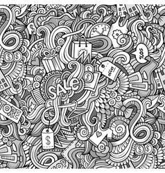 Cartoon cute doodles hand drawn Sale seamless vector