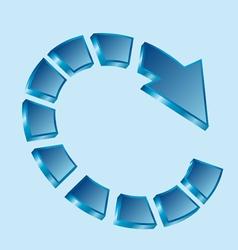Circular arrow vector