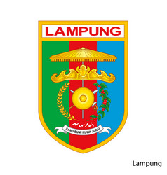 Coat arms lampung is a indonesian region vector