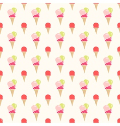 Colorful flat style ice cream seamless pattern vector image