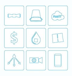 Contour icons for Ice Bucket Challenge vector
