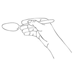 cooking hand with tea spoon vector image