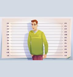 criminal mugshot in police or prison vector image