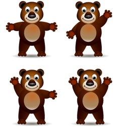 cute brown bear vector image