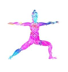 decorative colorful yoga pose vector image