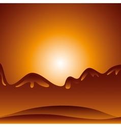 Desert landscape background icon vector