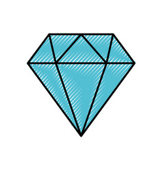 Diamond figure isolated icon vector