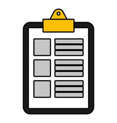 documents folder cartoon vector image