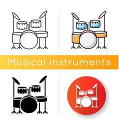 drum kit icon vector image