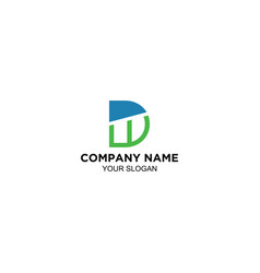dw logo images stock vector image