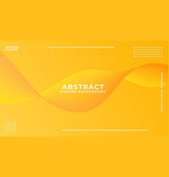 dynamic orange vibrant wave background vector image