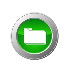 folder button vector image