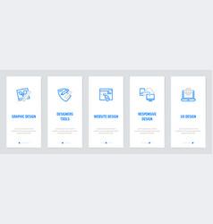 Graphic website responsive ux design designers vector