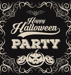 Halloween vintage background vector