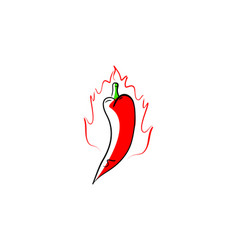 Hot chili logo design template vector