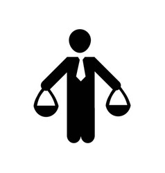 human balanced scale of a businessman icon icon vector image