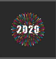 inscription number 2020 logo on the vector image