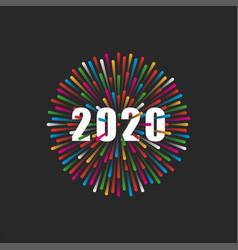 Inscription number 2020 logo vector