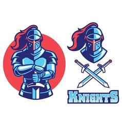 knight armor mascot vector image