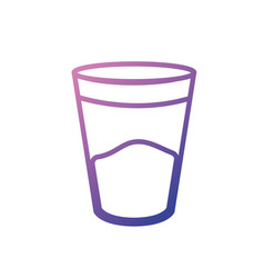 line water glass to drink and fresh beverage vector image