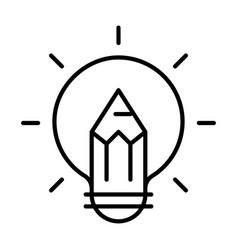 linear inspiration icon pencil vector image