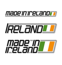 Made in ireland vector