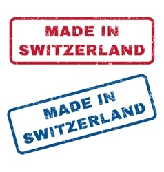 Made In Switzerland Rubber Stamps vector