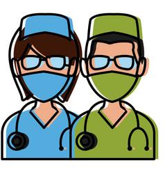 medical teamwork avatar vector image