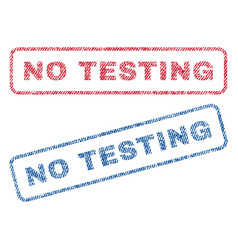 no testing textile stamps vector image